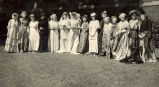People-Groups, Sterling, Illinois, Women modeling their wedding gowns
