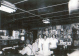 Restaurants, Sterling, Illinois, Bill's Lunch, Ave. B. Interior view with employees