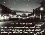 Sterling, Illnois, Street Scenes, Buildings, Christmas decorations, Main Street