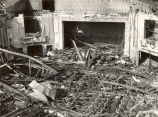 Theater, Sterling, Illinois, Fires, Building, interior destruction and debris, view of stage