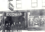 "Theater, Vaudette, Sterling, Illinois, Marquees,  ""Zigomar, a French Detective Play"",..."
