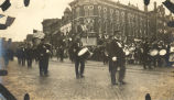 World War, 1914-1918, Sterling, Illinois,  Military parade,
