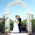 Weddings, Sterling, Illinois, Mr. & Mrs. Van Meter, Trellises