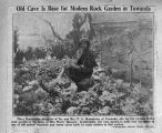 Newspaper article and photograph of 1933 Towanda rock garden