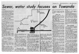 Newspaper article in 1972 regarding sewer and water study for Towanda
