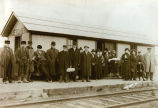 Photograph of people waiting at the train station in Fletcher, IL