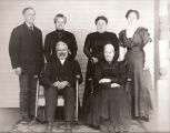 Photograph of John Stover family in 1887