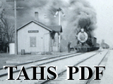 Newspaper articles with photographs of train hitting a car in Towanda