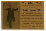 Advertisement for Towanda Evangelist meeting in 1910