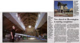 Newspaper article on addition to St. Patrick Church of Merna