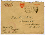 1919 envelope addressed to Hans Sachs