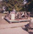 Photograph of school band performing at Towanda Post Office Dedication in 1961