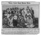 Newspaper article on Money Creek Home Bureau meeting