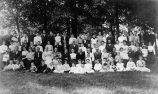 Photograph of the1904 Heller Reunion held at the Rockle Farm