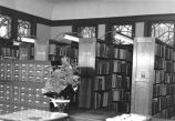 Carnegie Library of Wilmette Adult Department stacks and catalog