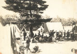 Military Camp of Fort Sheridan soldiers