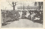 Convalescent Patients in Front of Convalescents Home, Fort Sheridan, Ill.