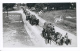 H.Q. and Service-Btry. 3rd F.A. Wagon Train.  Custer Hike 1934.