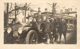 Men Posing Around Automobile, Fort Sheridan